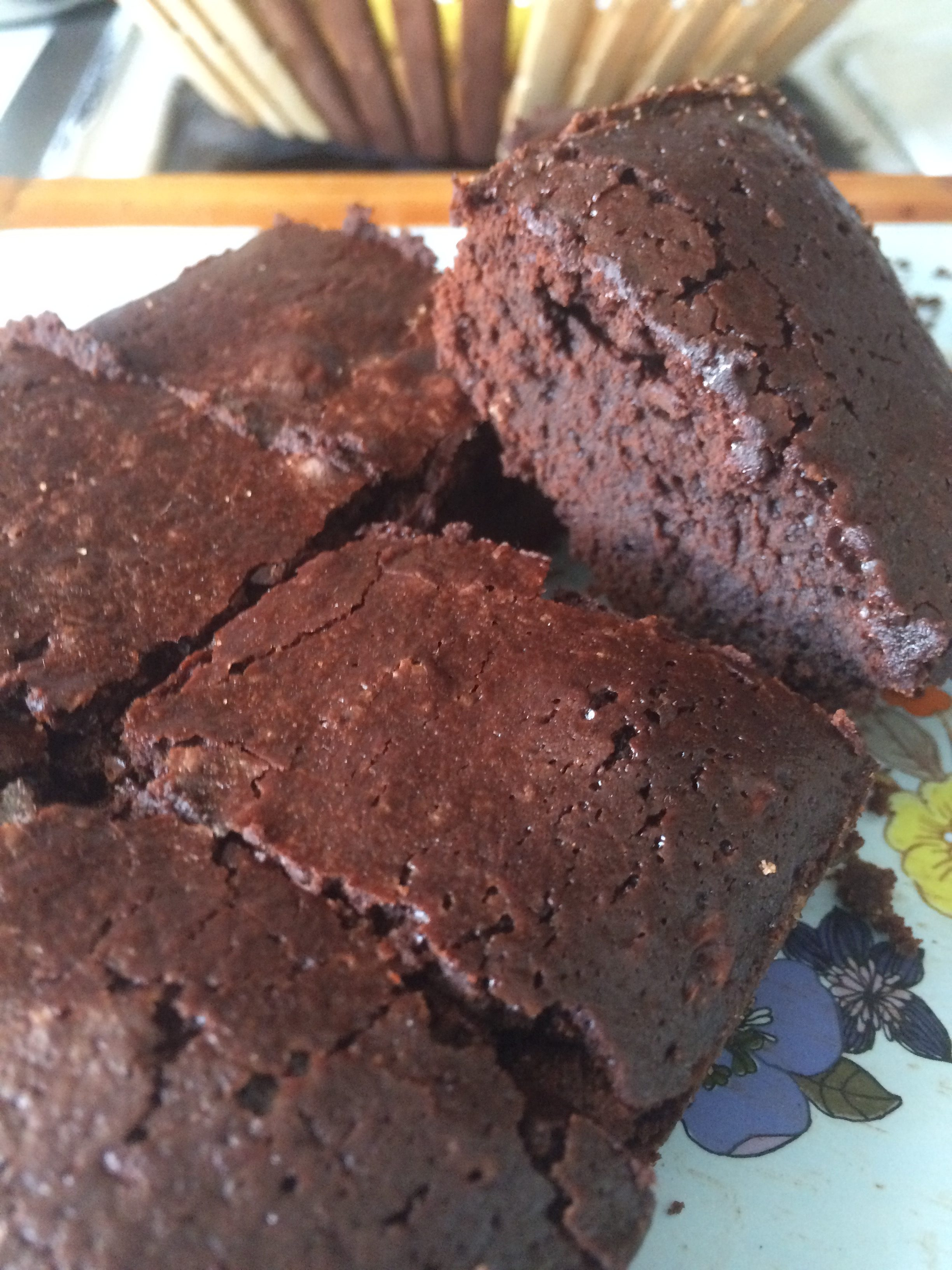 Fudgy brownie de cacao
